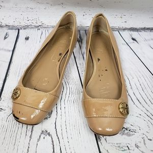 Tory Burch Tan Leather Ballerina Flats
